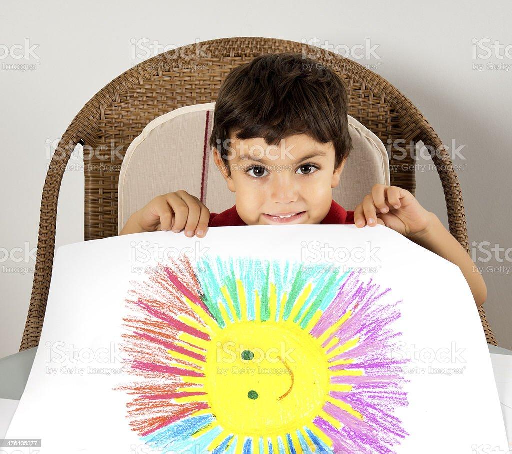 Preschool child doing activities royalty-free stock photo