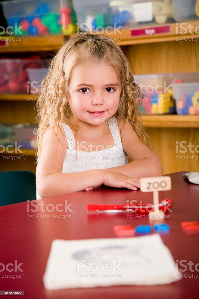 Preschool Children in a Classroom royalty-free stock photo