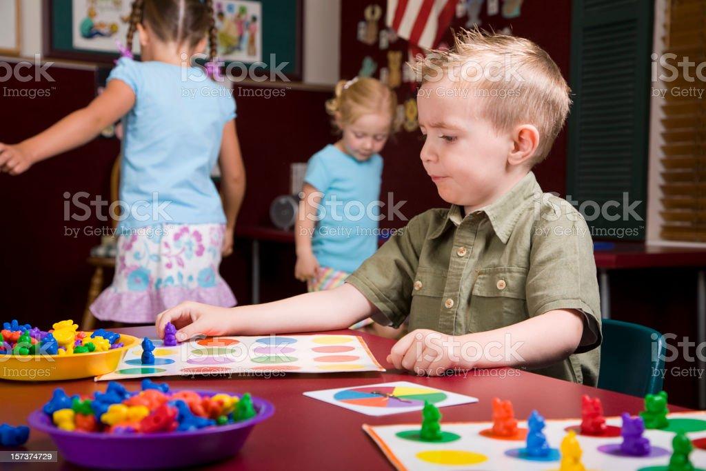 Preschool Children in a Classroom royalty-free stock photo