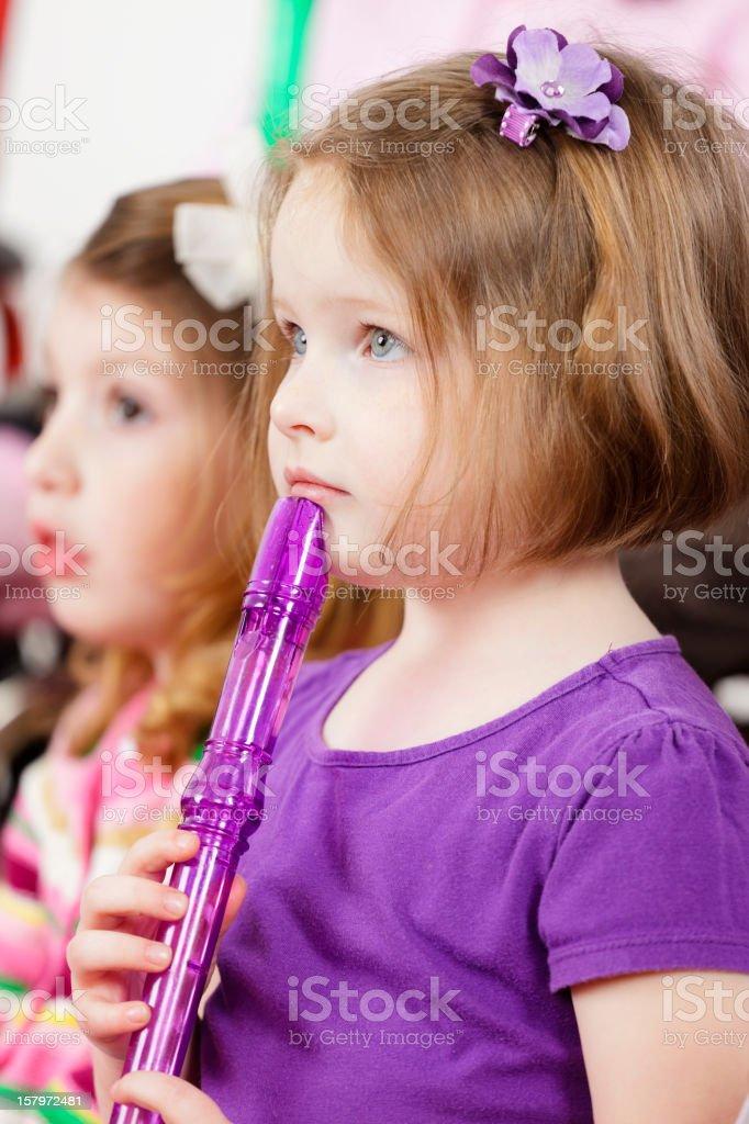 Preschool Children in a Music Class royalty-free stock photo