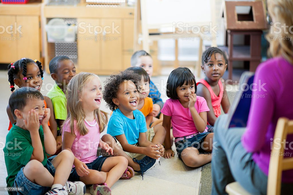 Pre-school children stock photo