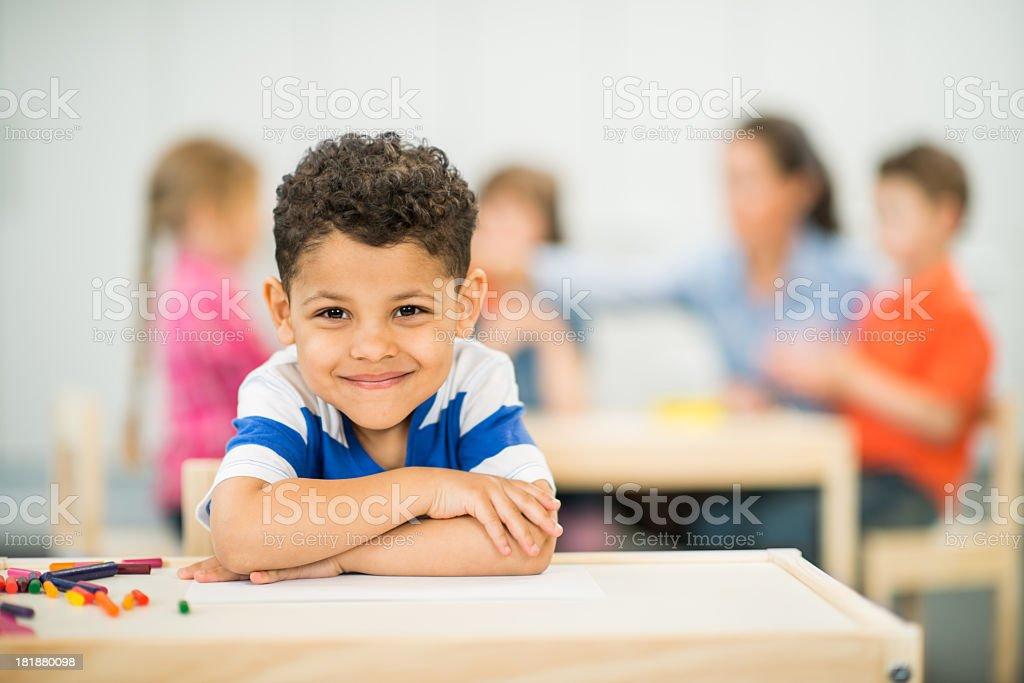 Preschool Class royalty-free stock photo