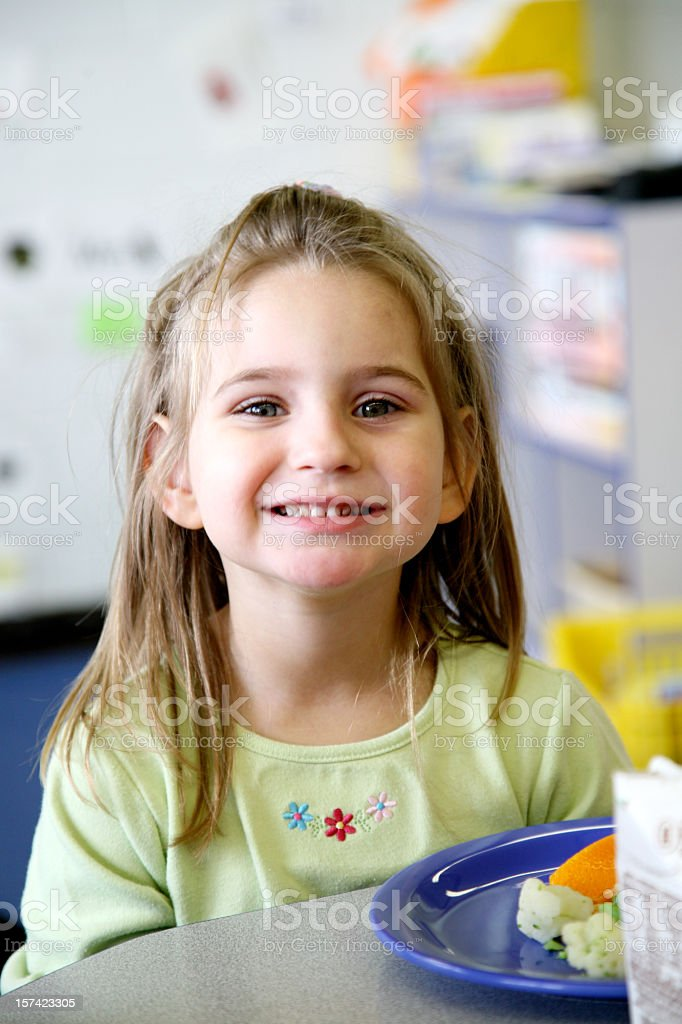 pre-school  lunch royalty-free stock photo