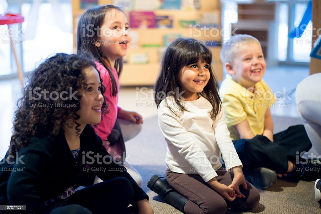 Preschool Show and Tell stock photo