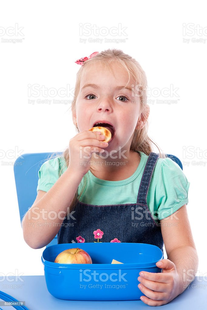 Preschool Snack Time stock photo