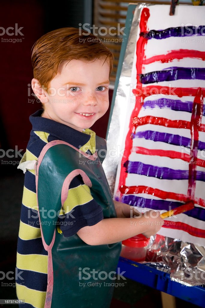 Preschool Student in a Classroom royalty-free stock photo