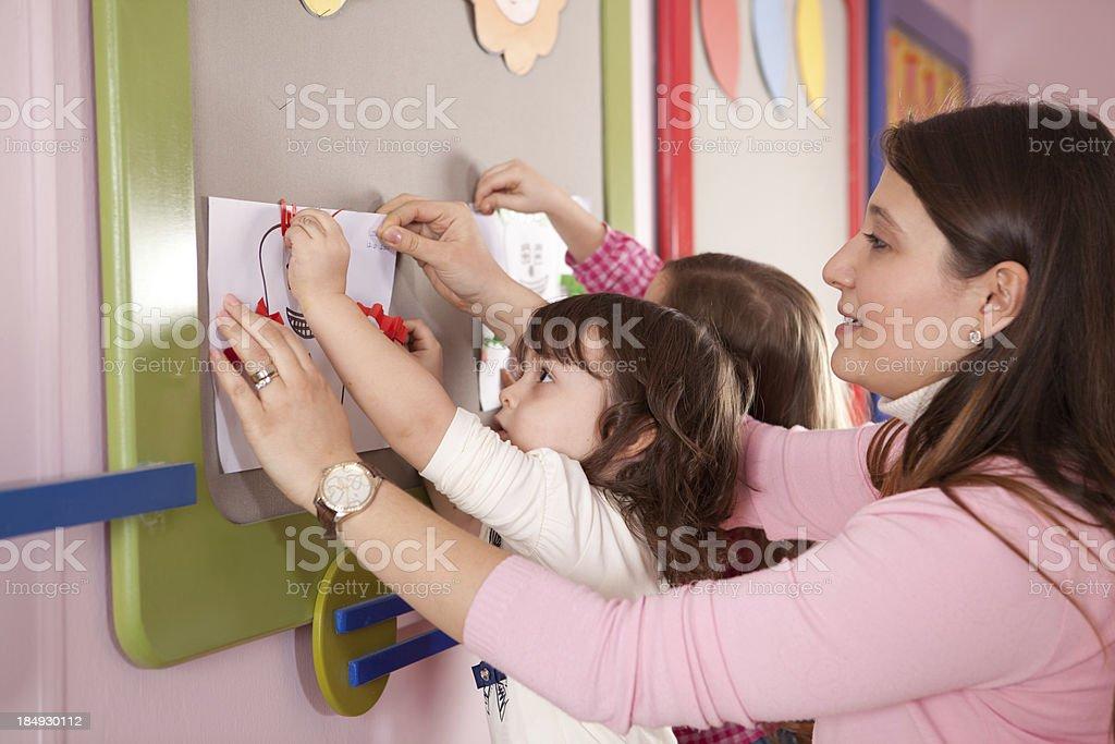 Preschooler and Teacher royalty-free stock photo