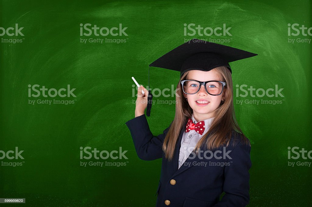 Preschooler graduation stock photo
