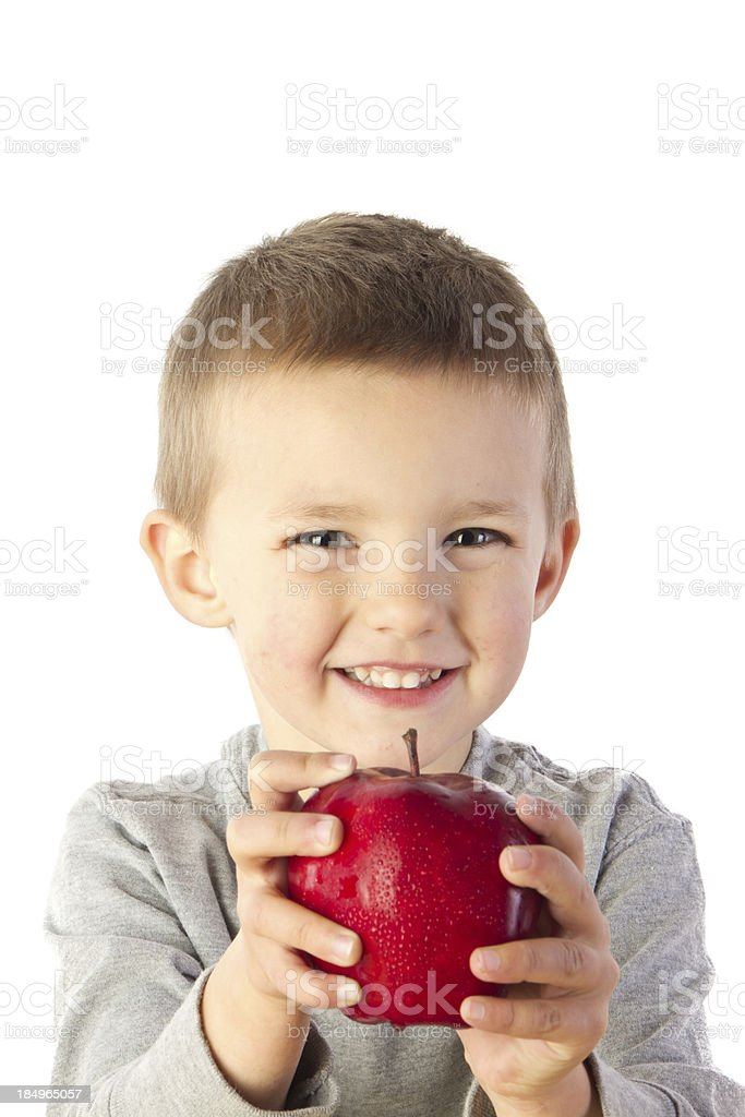 Preschooler with Apple royalty-free stock photo