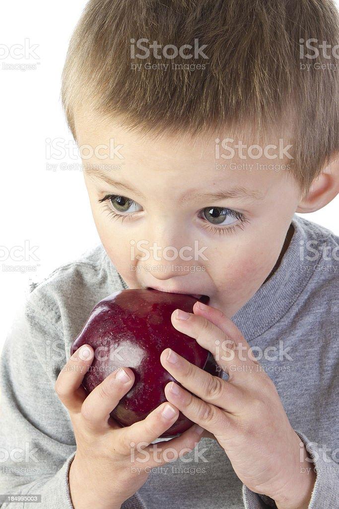 Preschooler with Apple royalty-free stock photo