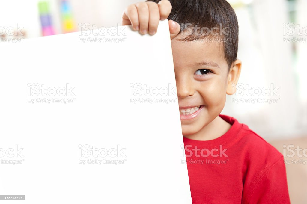 Preschoolers and Placard royalty-free stock photo