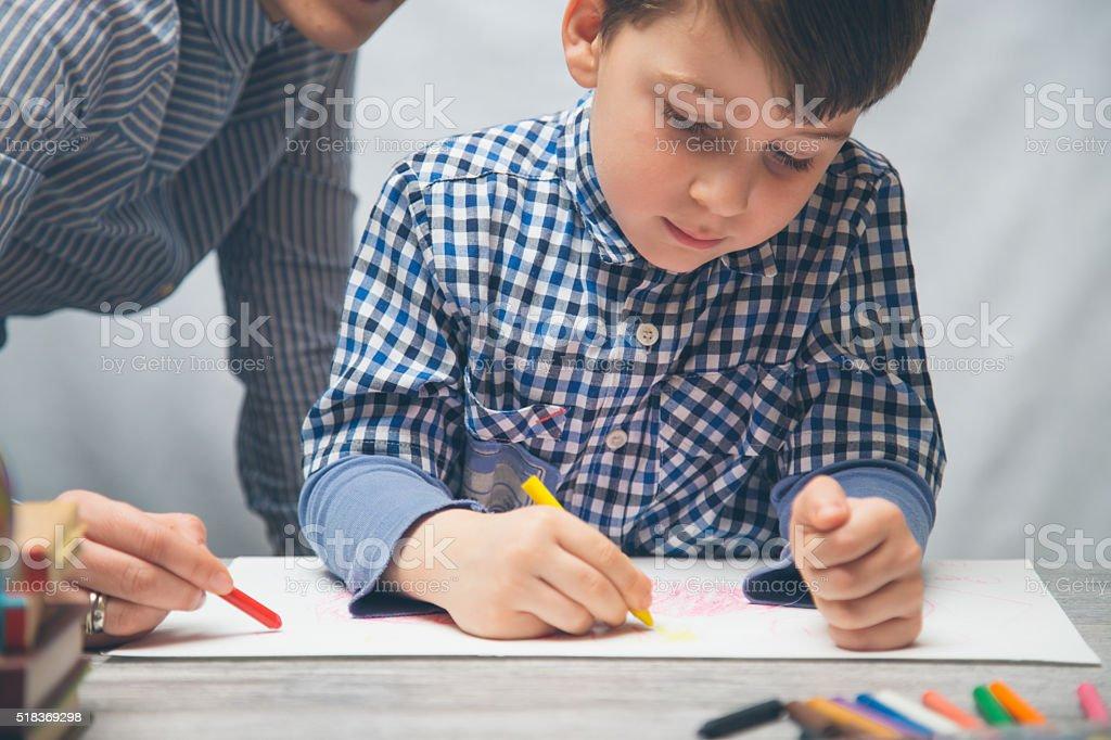 Preschoolers Studying stock photo