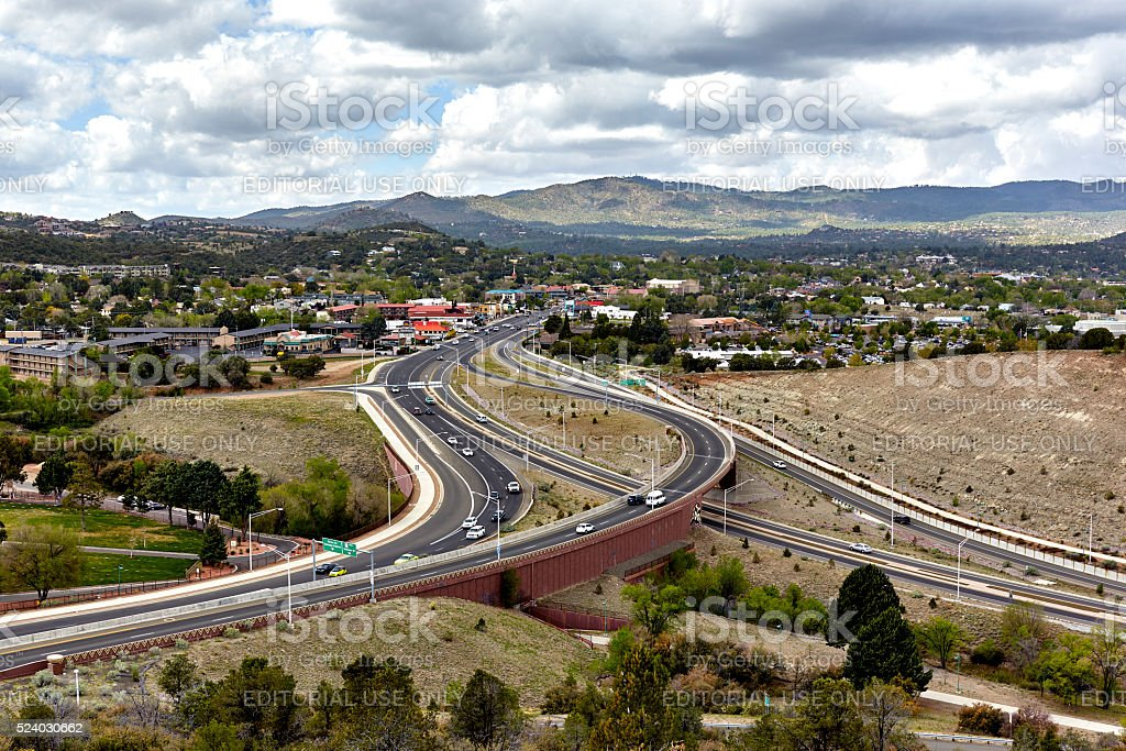Prescott Arizona Skyline stock photo