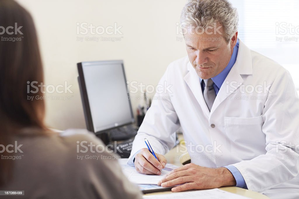 Prescribing the right medicine royalty-free stock photo