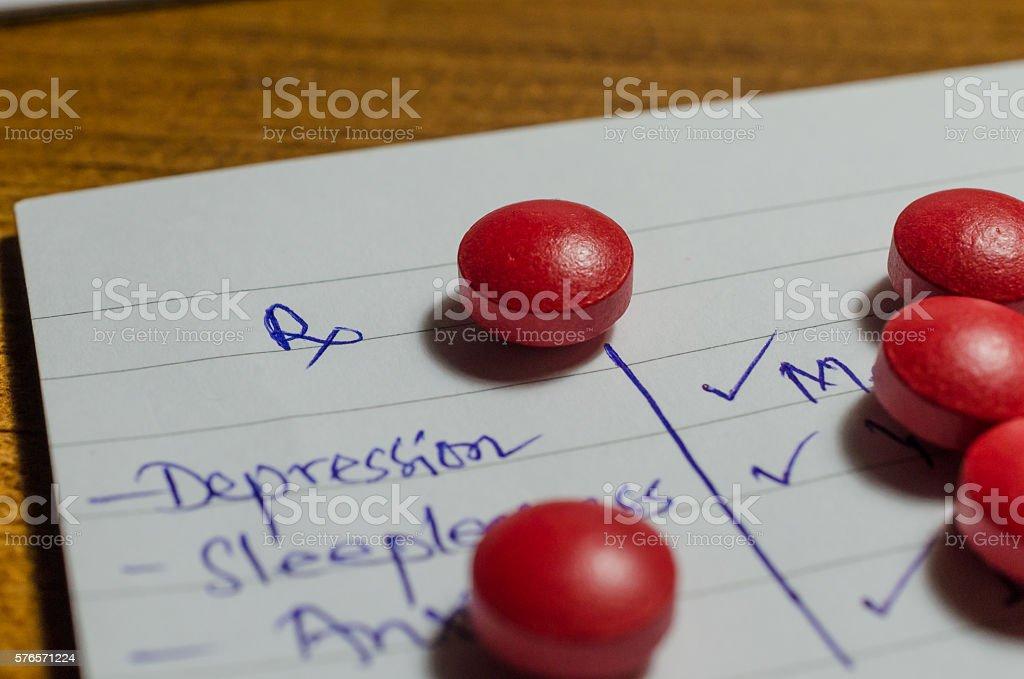 Prescription and drugs stock photo