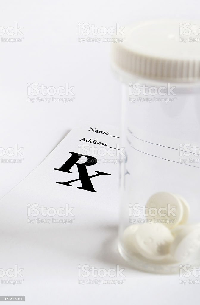 Prescription and pills royalty-free stock photo