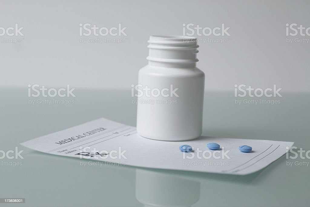 RX Prescription  and Pills royalty-free stock photo