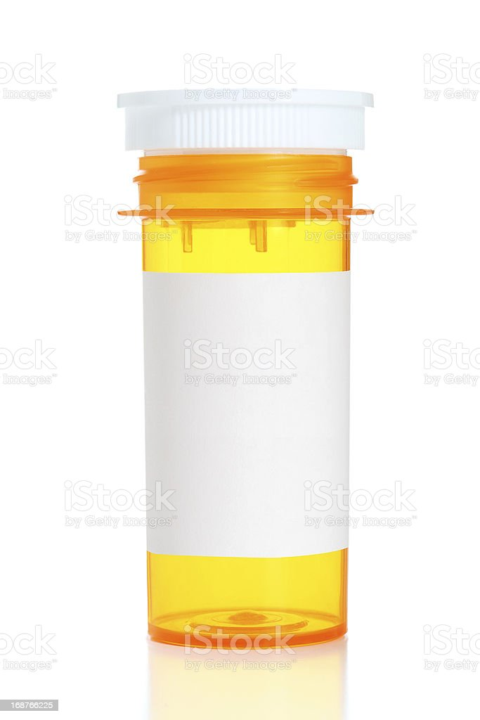 Prescription Bottle With Blank Label stock photo
