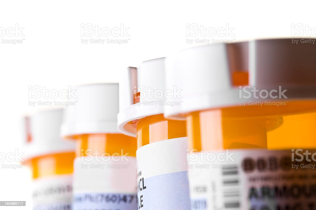 Prescription Bottles stock photo