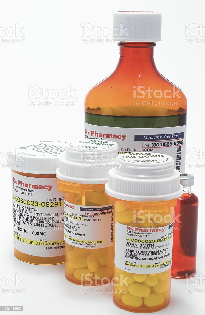 Prescription Bottles royalty-free stock photo