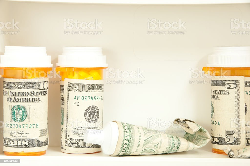 Prescription costs royalty-free stock photo