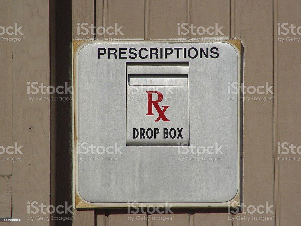 Prescription Drop Box royalty-free stock photo
