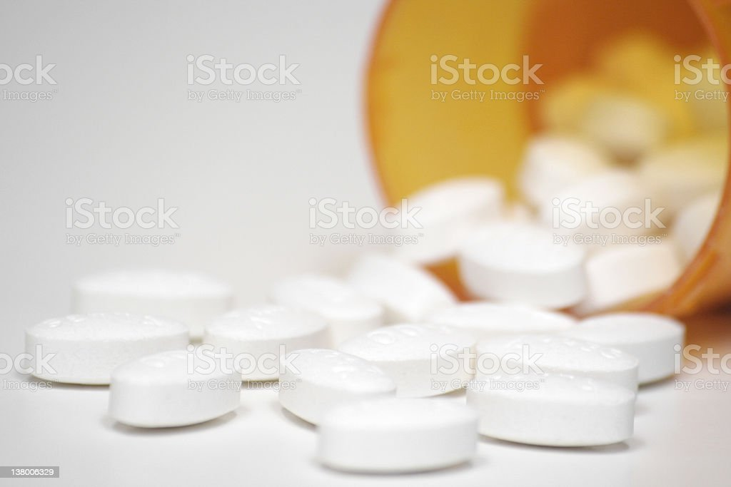 Prescription Drug Bottle stock photo