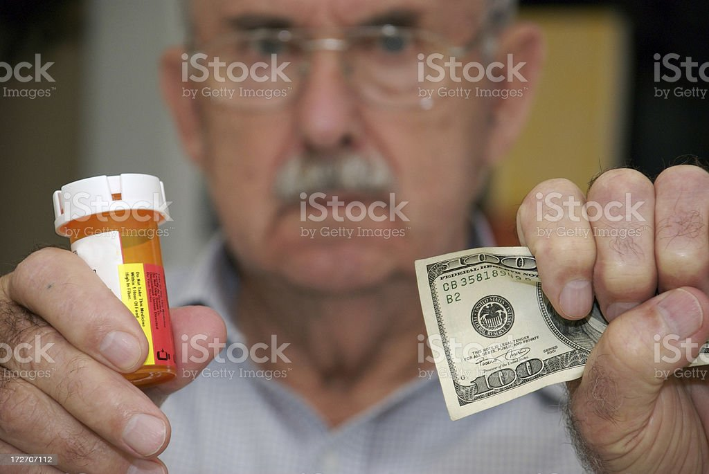 Prescription Drug Costs For Seniors stock photo