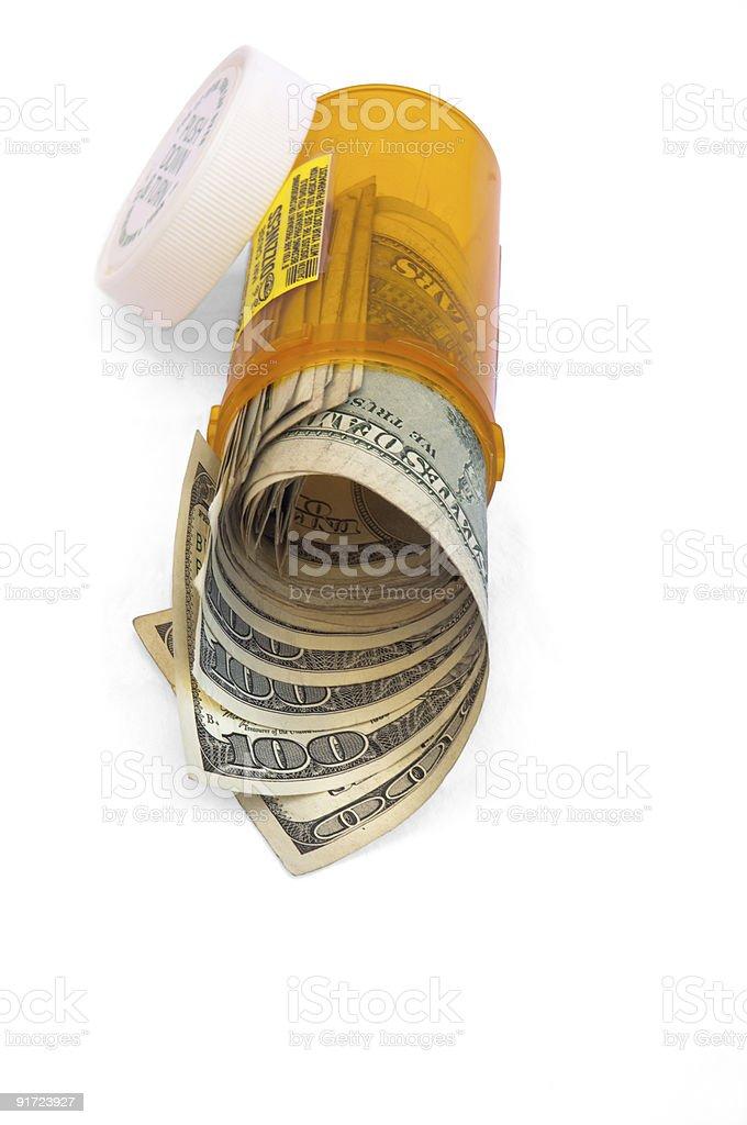 Prescription drug costs royalty-free stock photo