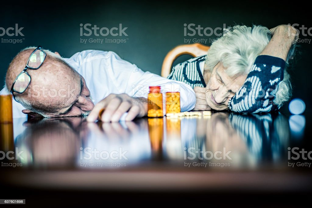 Prescription Drug Overdose stock photo