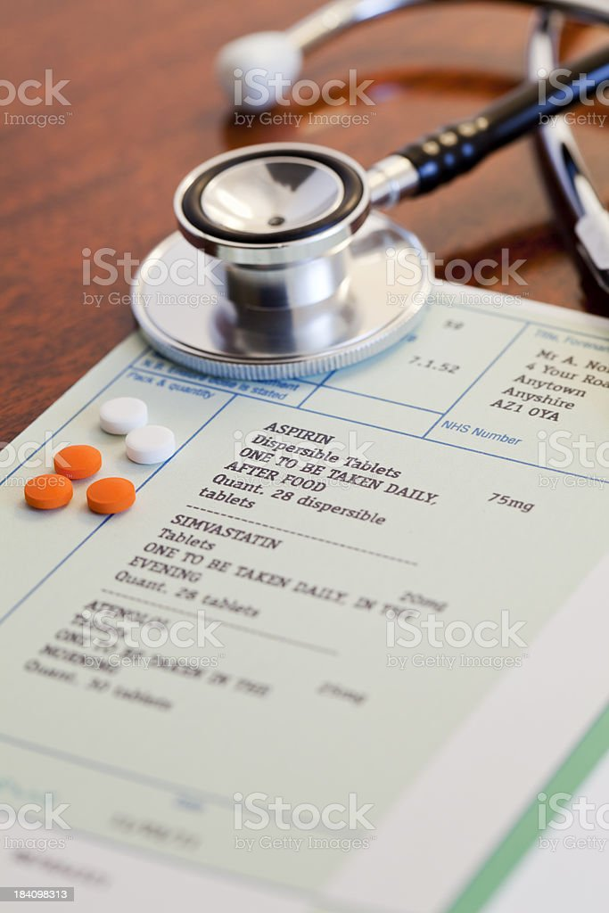 UK Prescription Drugs stock photo