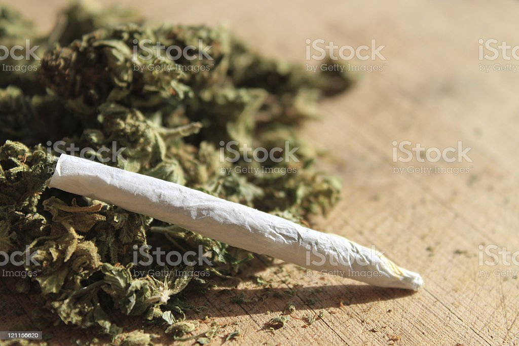 Prescription marijuana stock photo