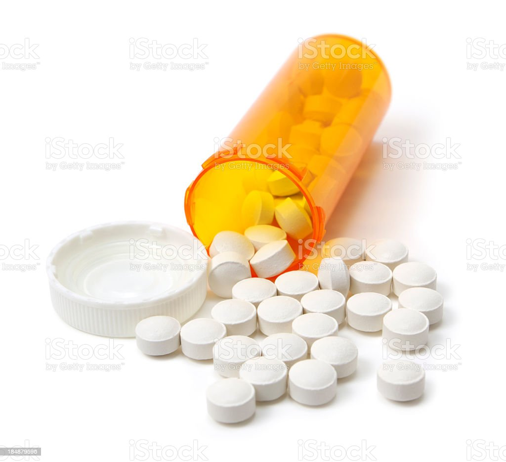 Prescription medicine bottle royalty-free stock photo