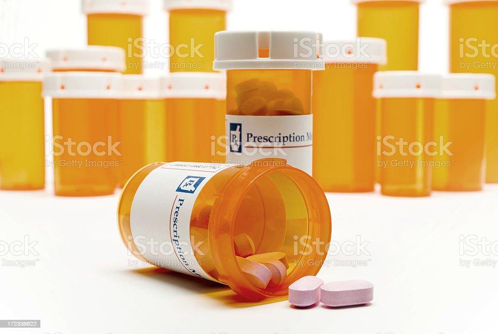 Prescription Medicine Bottles royalty-free stock photo