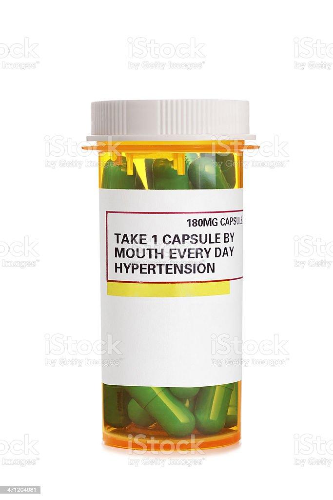 Prescription Medicine for Hypertension royalty-free stock photo