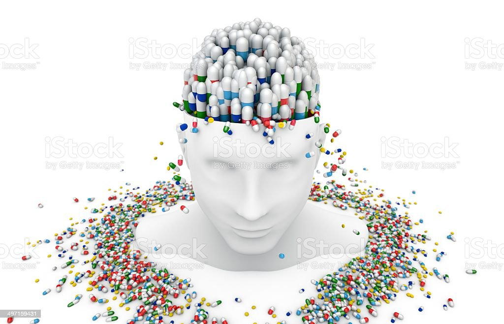 Prescription Medicine, pill. stock photo