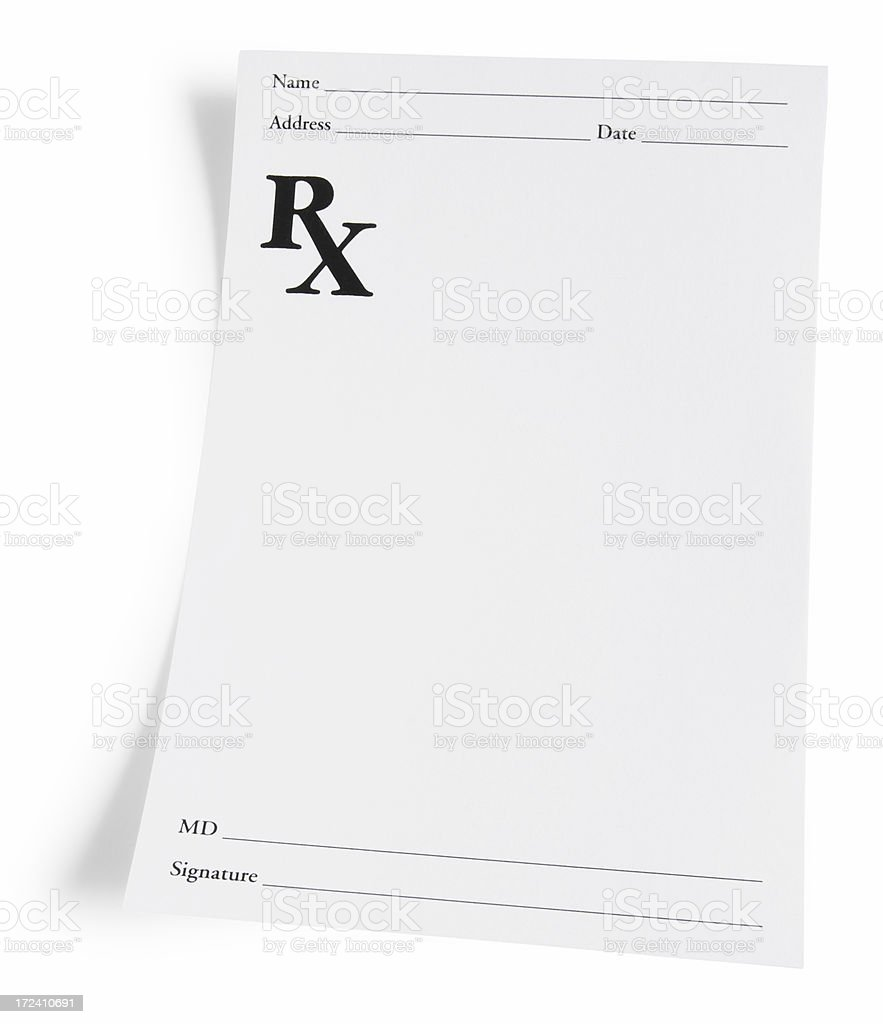 Prescription stock photo