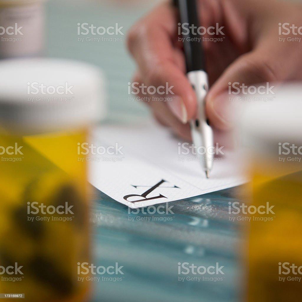 Prescription. royalty-free stock photo