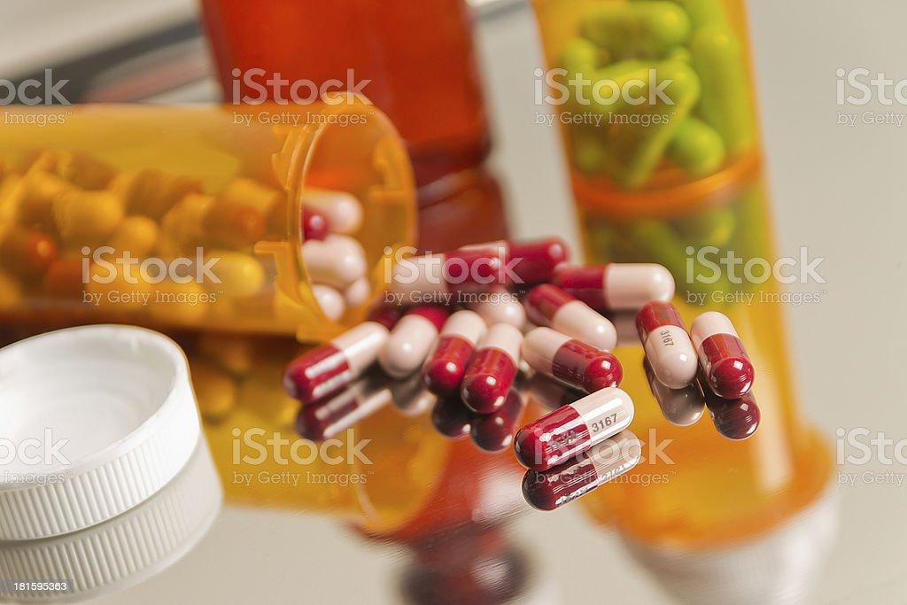 Prescription Pill Spill royalty-free stock photo