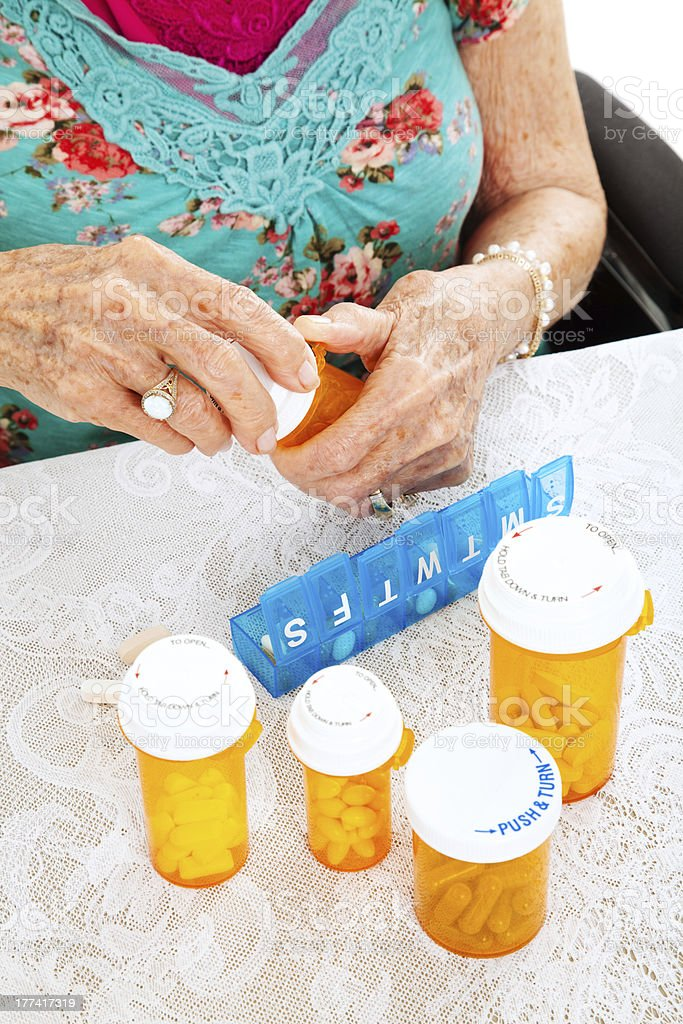 Prescription Pills for the Week royalty-free stock photo