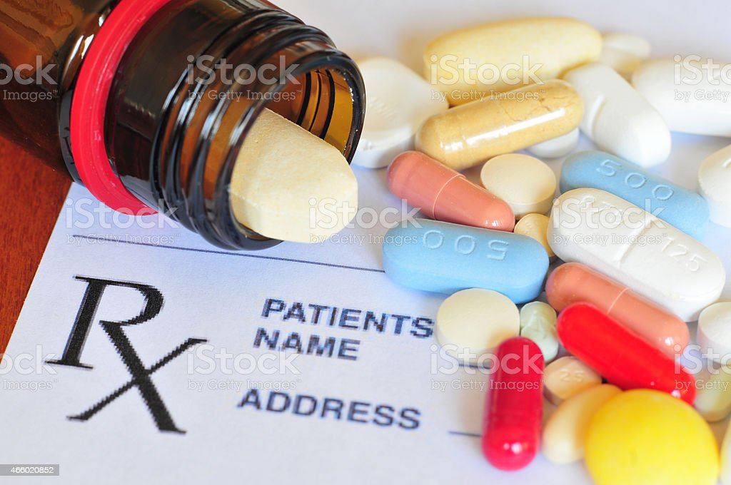 Prescription pills stock photo
