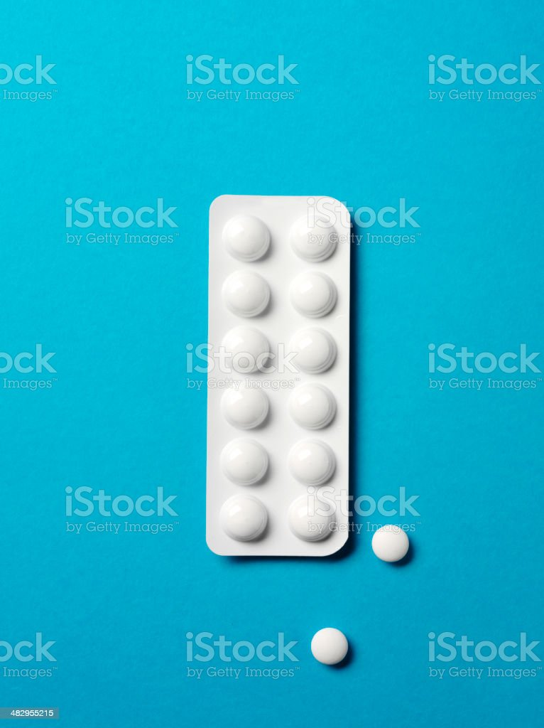 Prescription Tables in a Packet stock photo