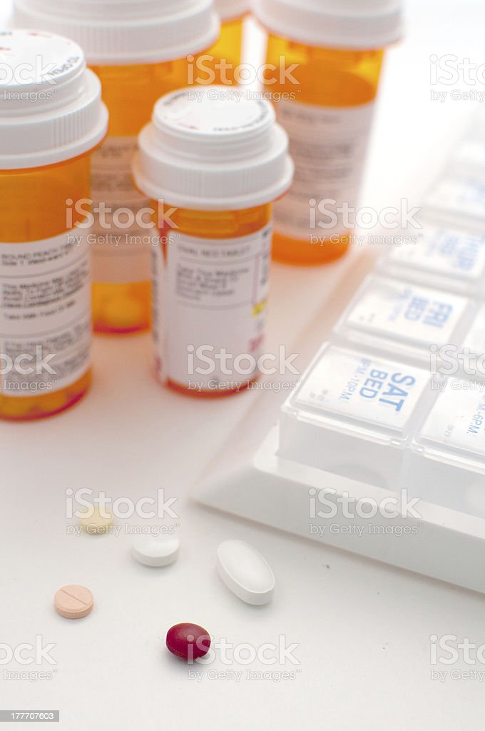 Prescription tablet and pills different shapes royalty-free stock photo