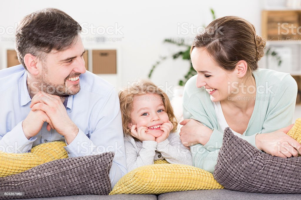 Presence of a child brings unbridled joy stock photo