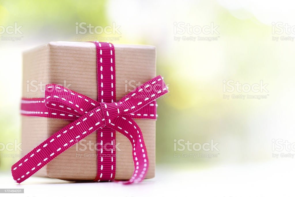 Present box on white royalty-free stock photo