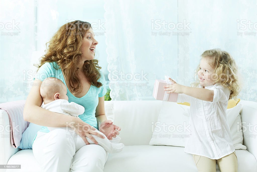 Present for mommy royalty-free stock photo