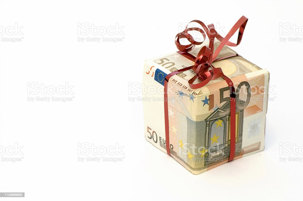Present in Euro royalty-free stock photo