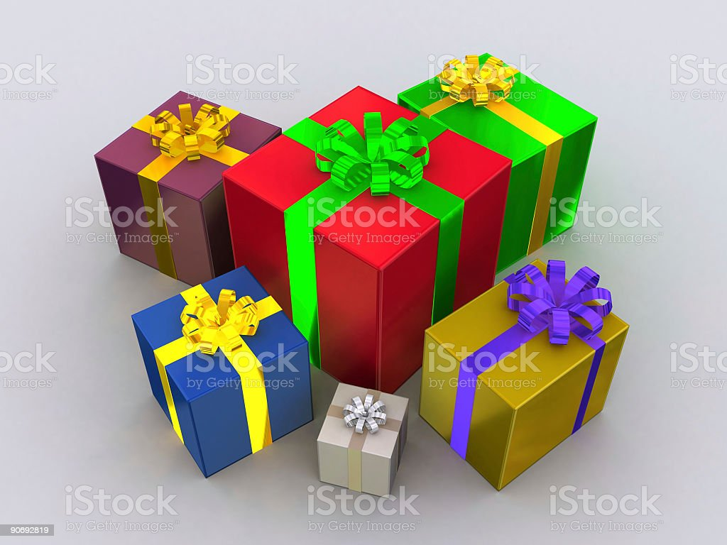 Present Stack royalty-free stock photo