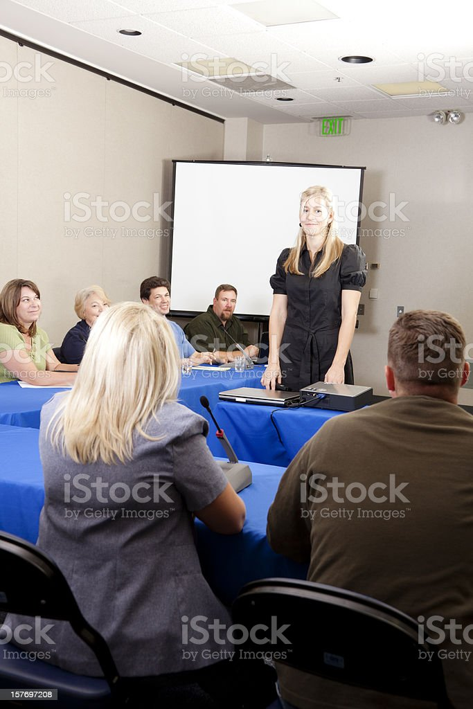 Presentation at a conference meeting royalty-free stock photo