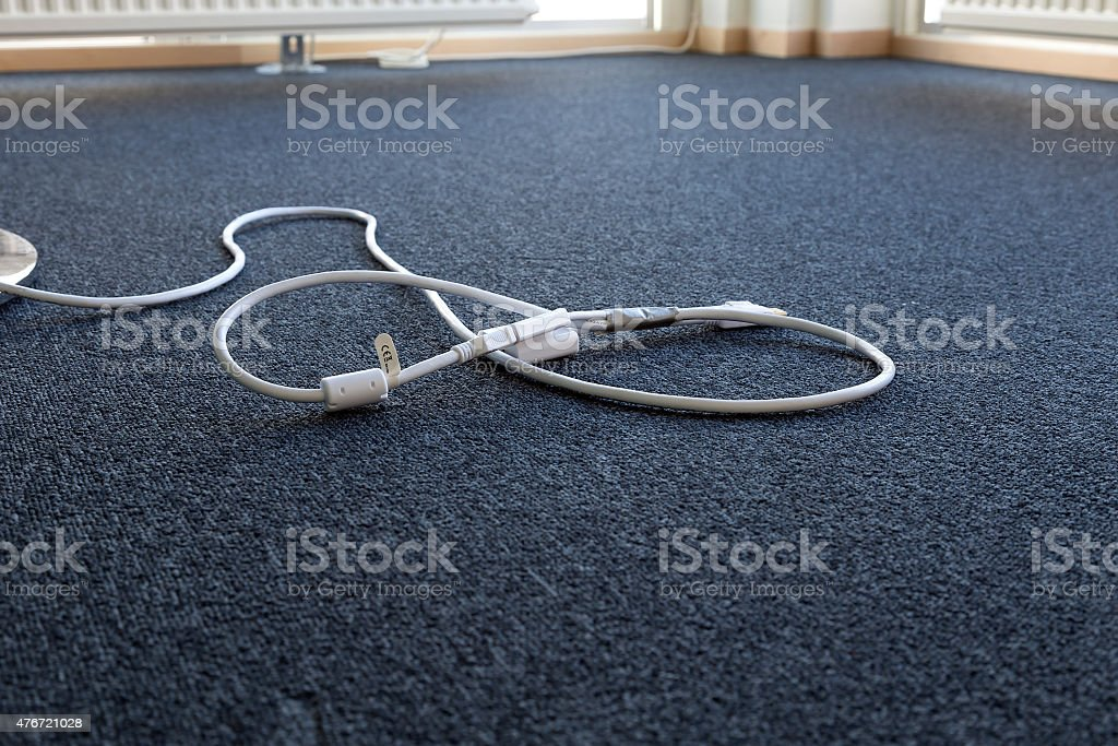 Presentation by cables royalty-free stock photo